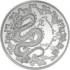2012 €10 Silver Proof - Year of the DRAGON